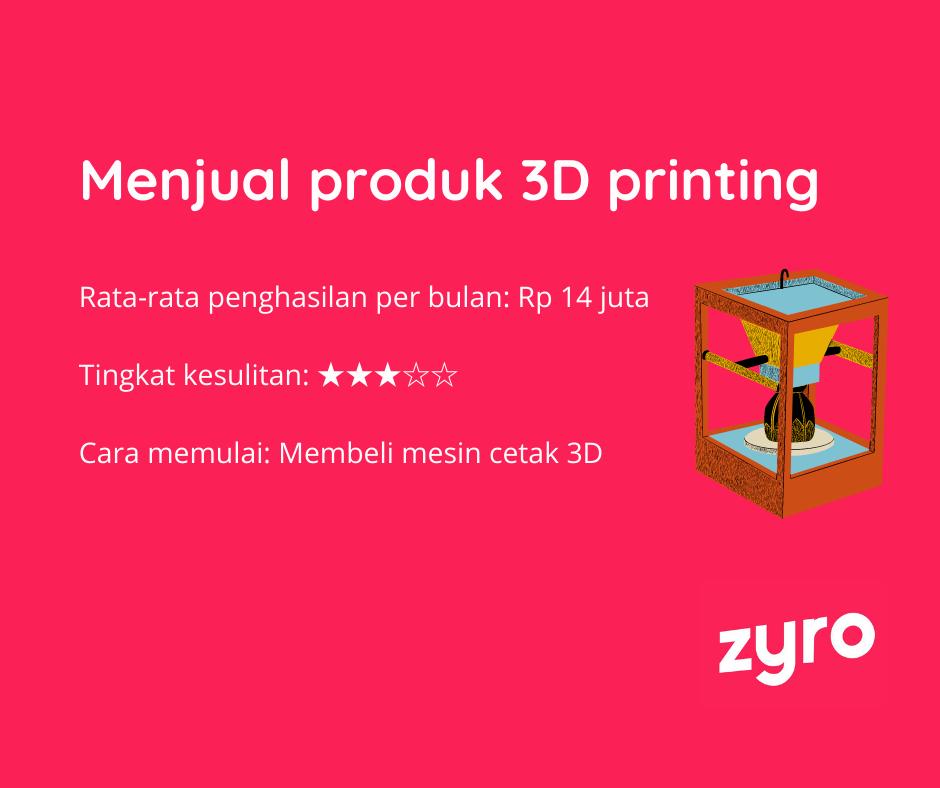 Menjual produk 3d printing
