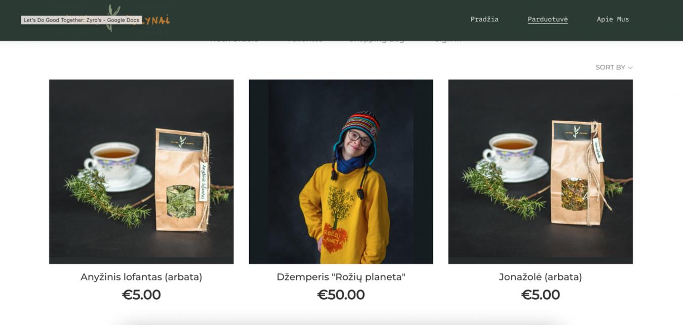 Roziu Planeta Online Store Screenshot