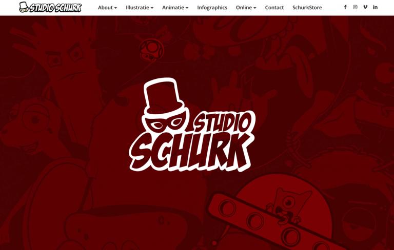 Site de portfólio de Studio Schurk