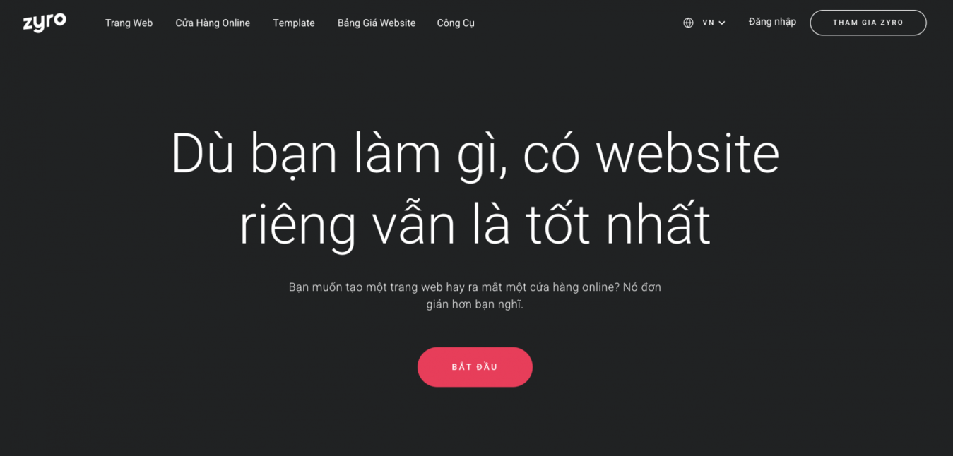 Zyro Việt Nam để bán ảnh online