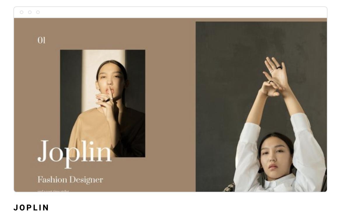 Website Portofolio Joplin