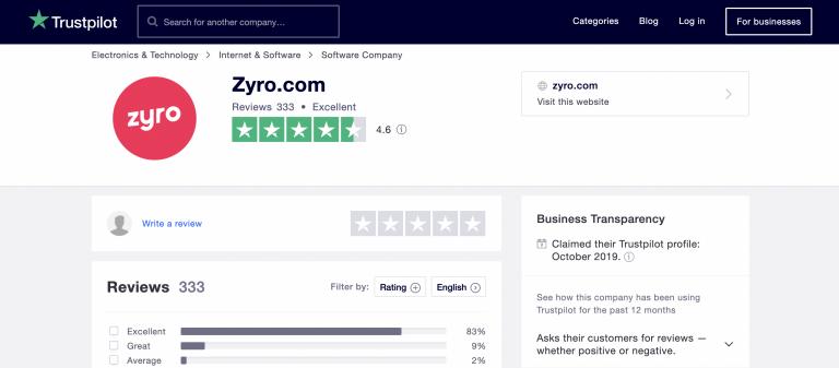 Jenis website review