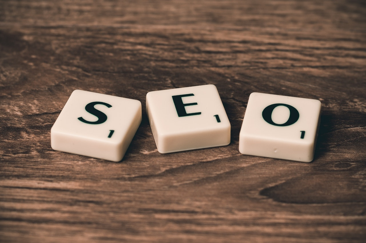 Wooden blocks spelling out SEO