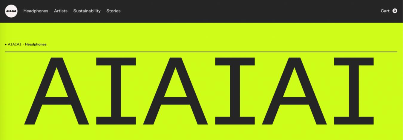 AIAIAI Audio Design Sito Semplice