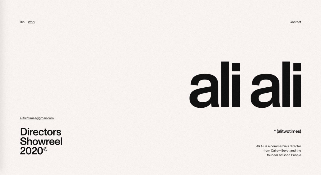 Site simples Ali Ali
