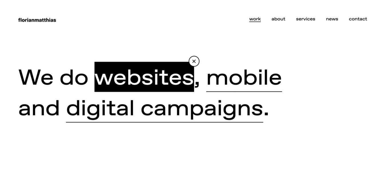 Contoh website sederhana Florian Matthias