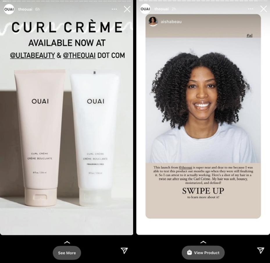 qué publicar en Instagram: Función Swipe-Up