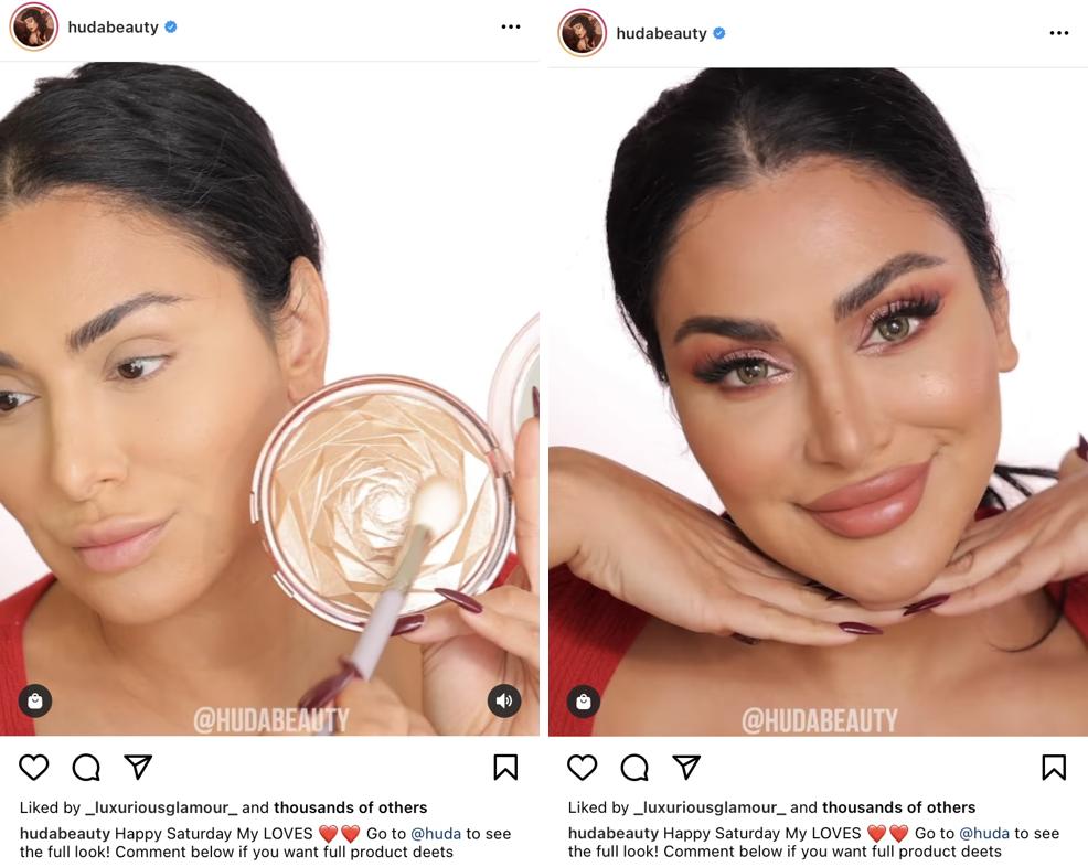 Capturas de pantalla del tutorial de Instagram