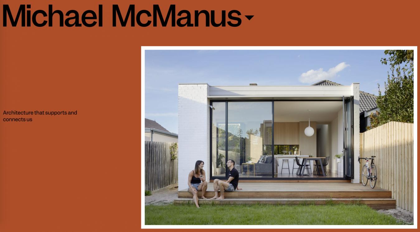 Sito Design Semplice ad Alta Definizione Michael McManus