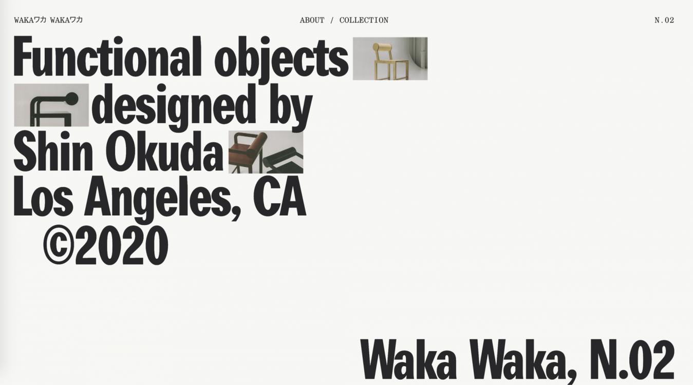 Waka Waka website voorbeeld