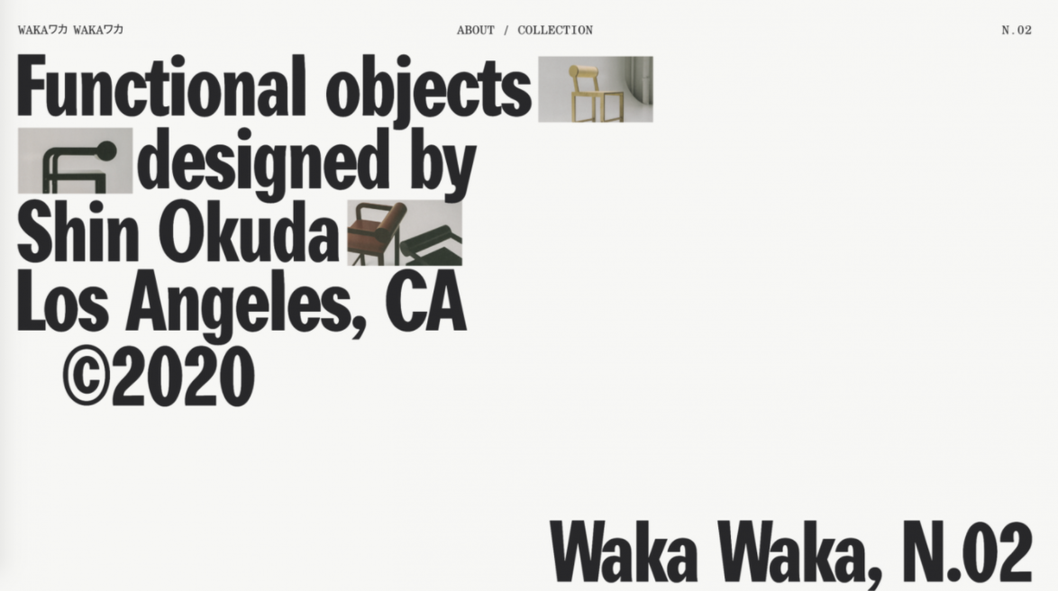 Site simples com design minimalista Waka Waka