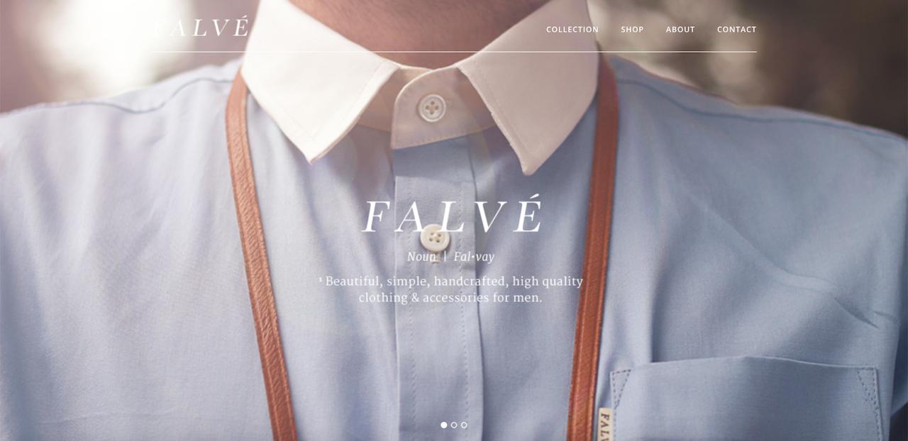 Homepage del sito web Falve