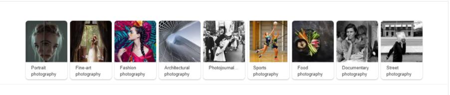 Lista di generi fotografici