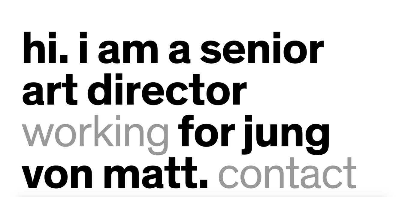 Trang web đơn giản Jung Von Matt
