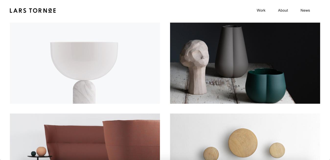 Homepage del sito web Lars Tornøe