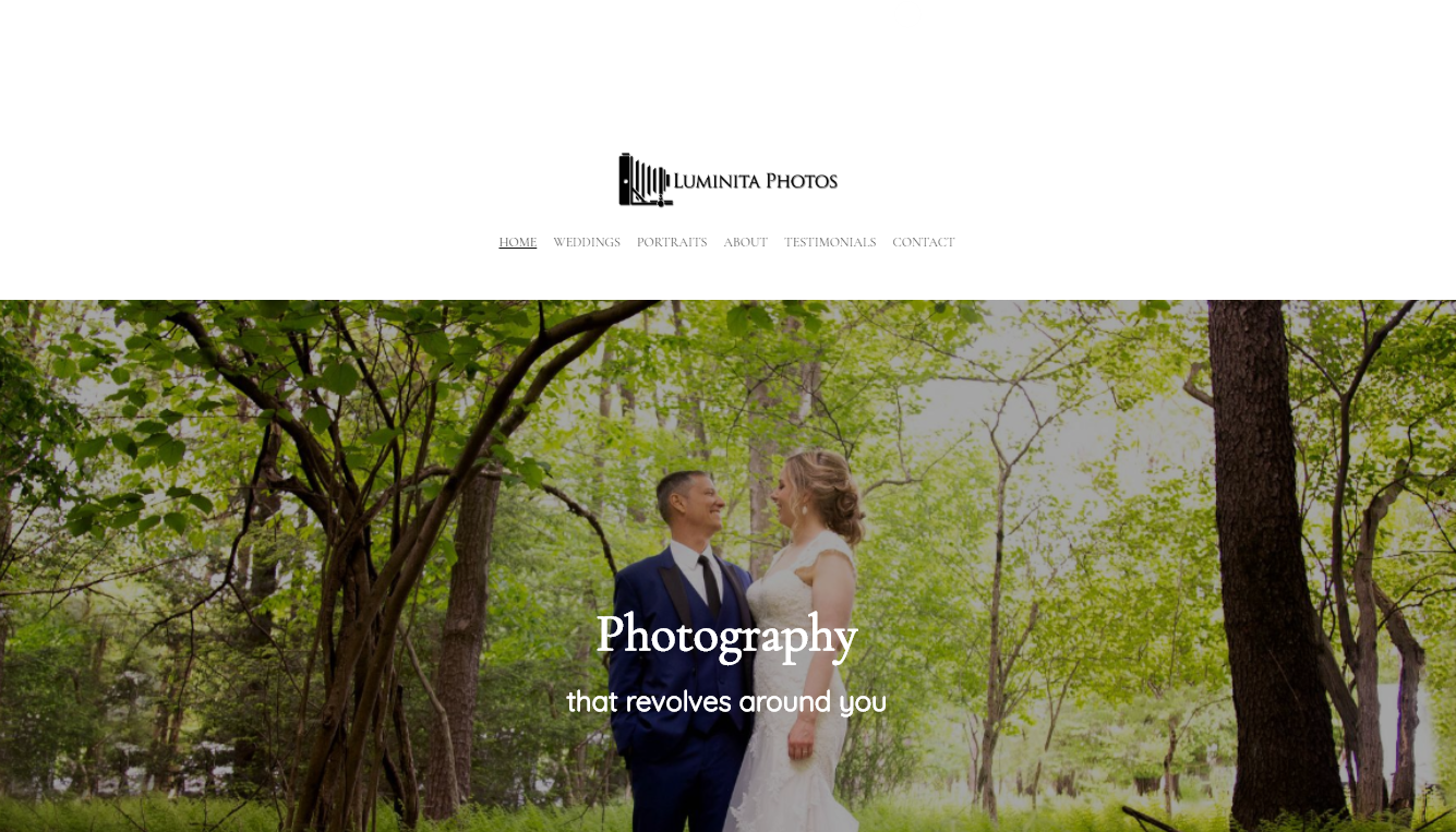 Homepage del portfolio fotografico di Luminita