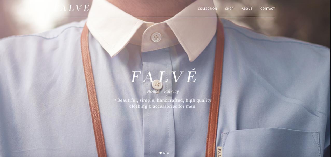 Página inicial do site da Falvé
