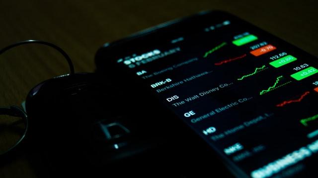 Ekran z notowaniami giełdowymi