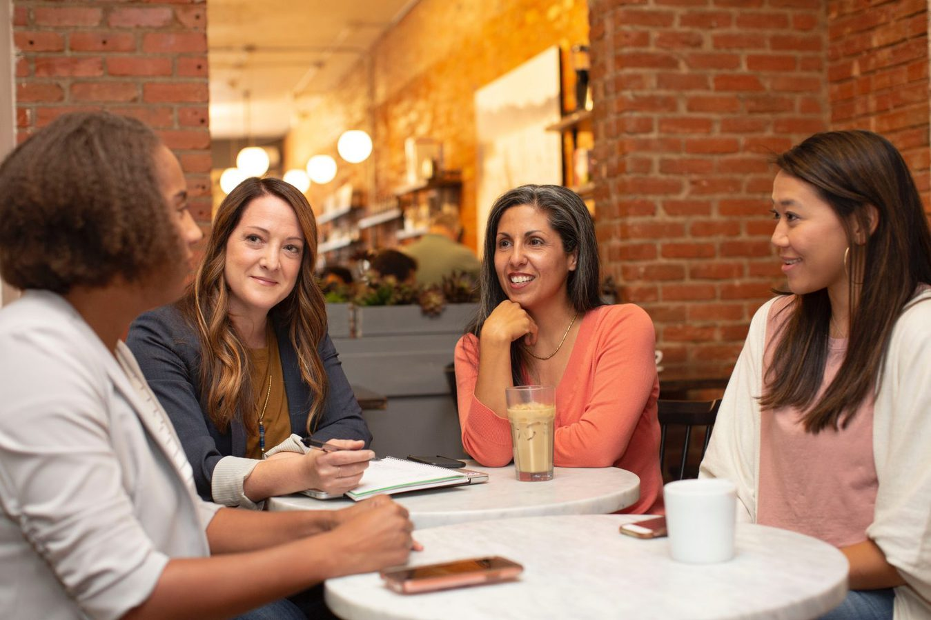 Women having coffee meeting