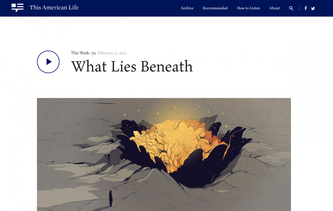 The American Life landing page