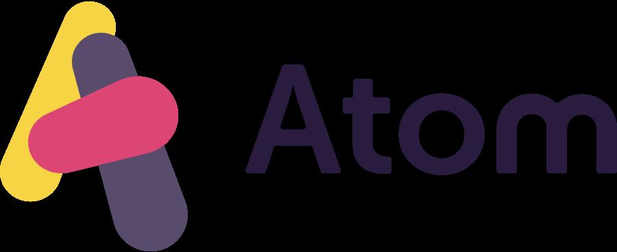 Atom Bank logo design