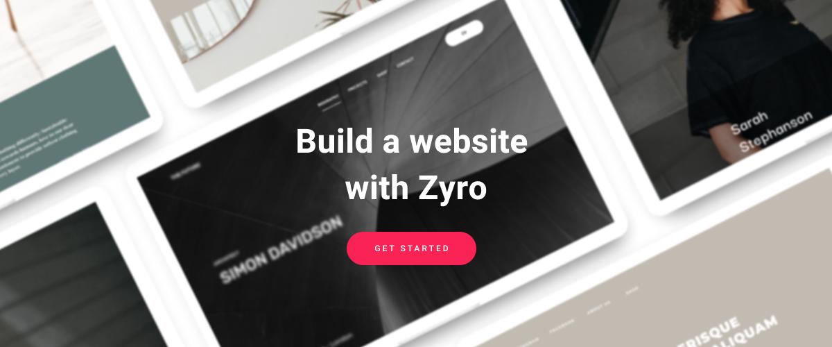 Crie um site com o Zyro