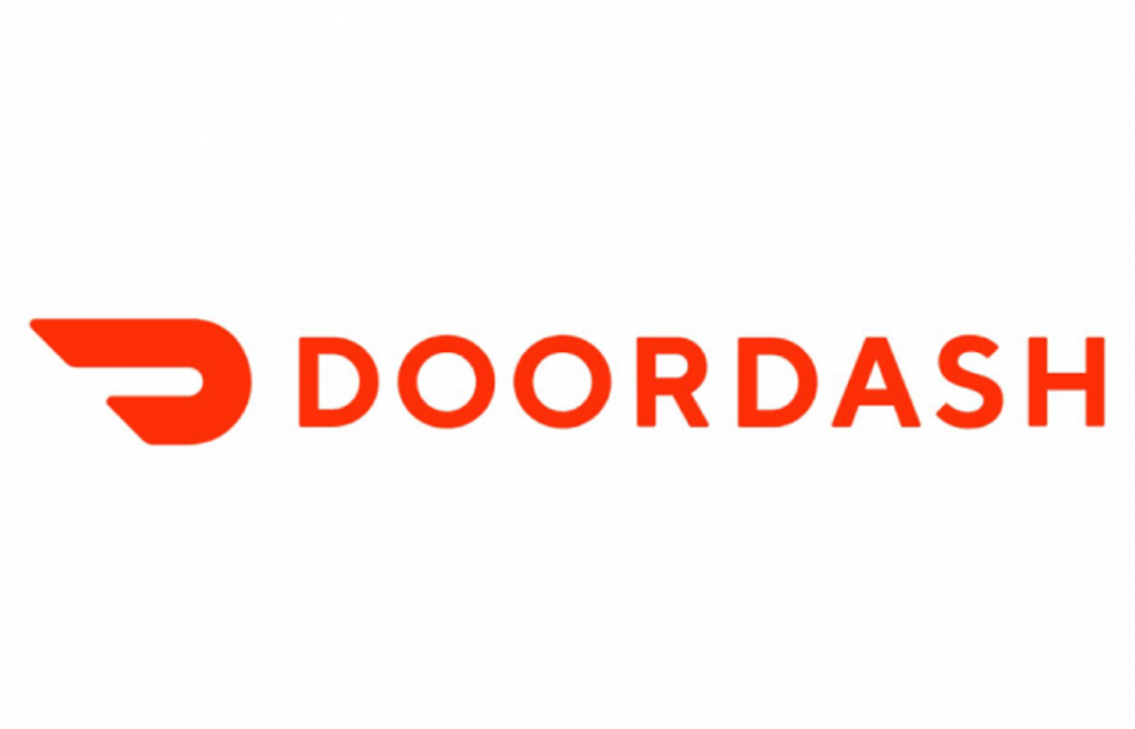 Contoh desain logo Doordash