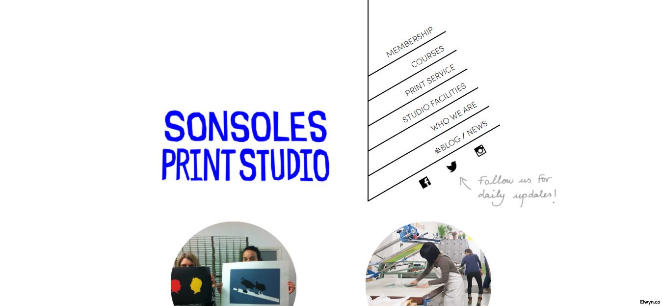 Sonsoles Print Studio website