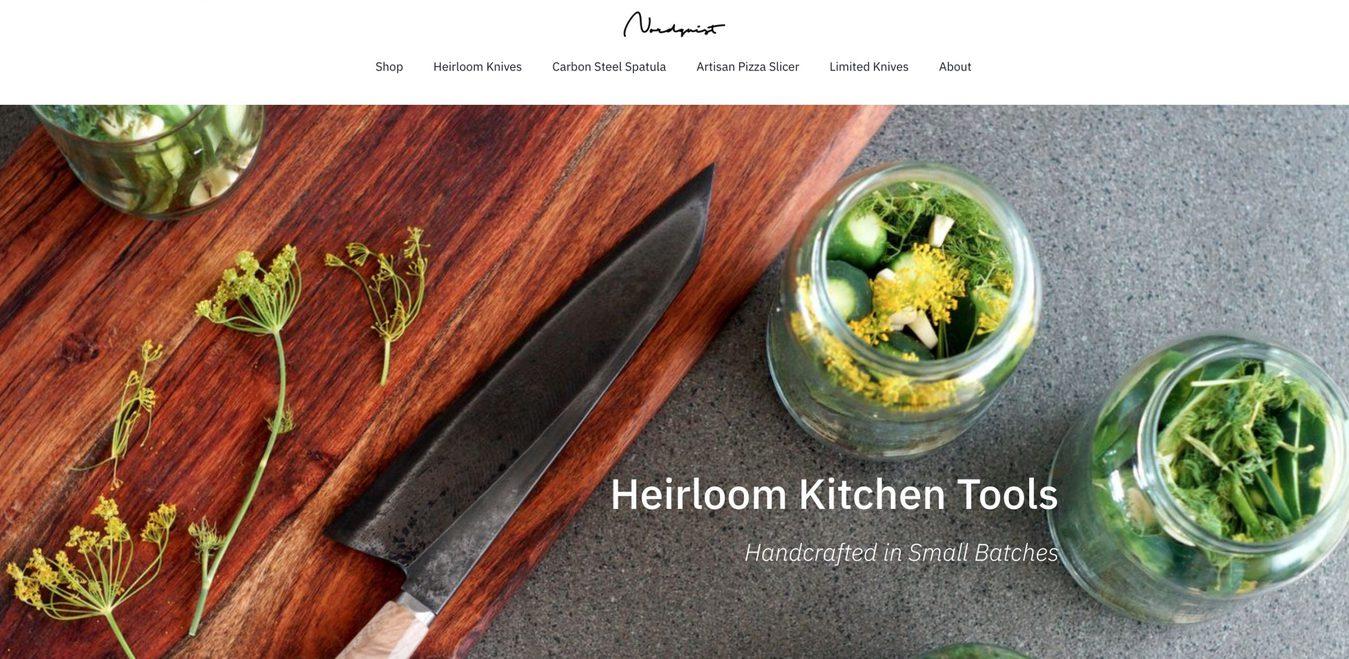 Página inicial do site Nordquist Designs