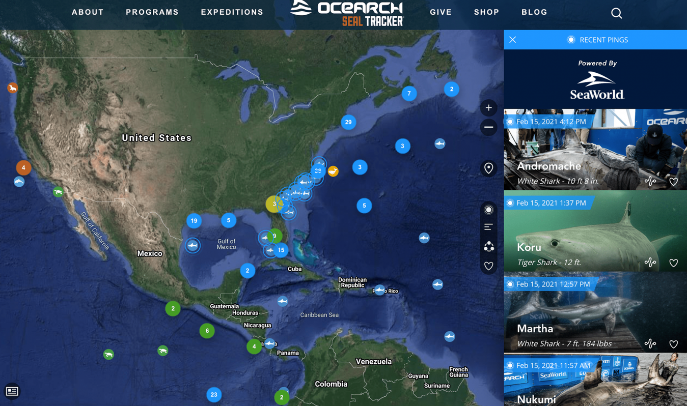Ocearch landing page