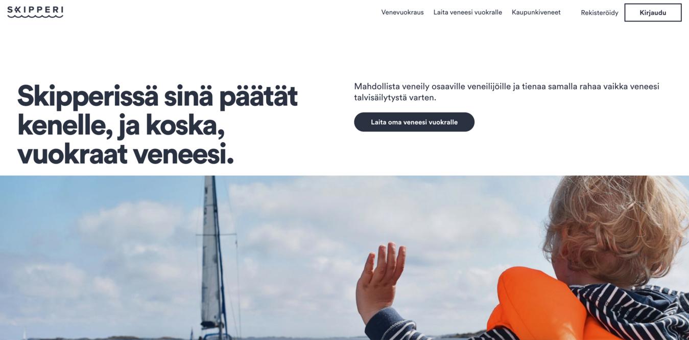 Screenshot del sito Skipperi