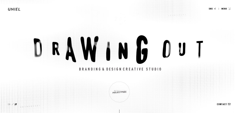 Exemplo de um site para empresa em preto e branco