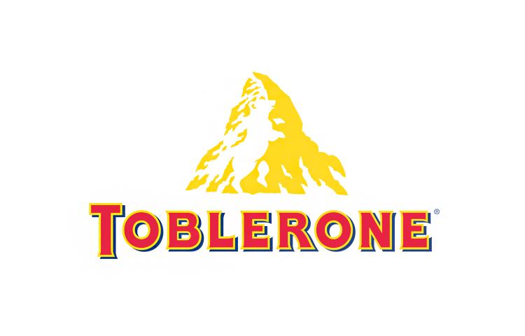 Design del logo della barretta di cioccolato Toblerone