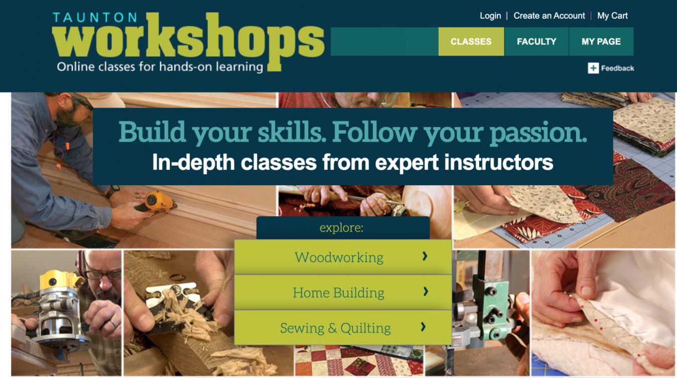 taunton workshops teacher website examples