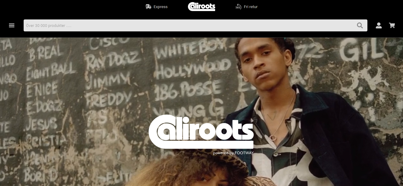 Contoh website eCommerce Caliroots