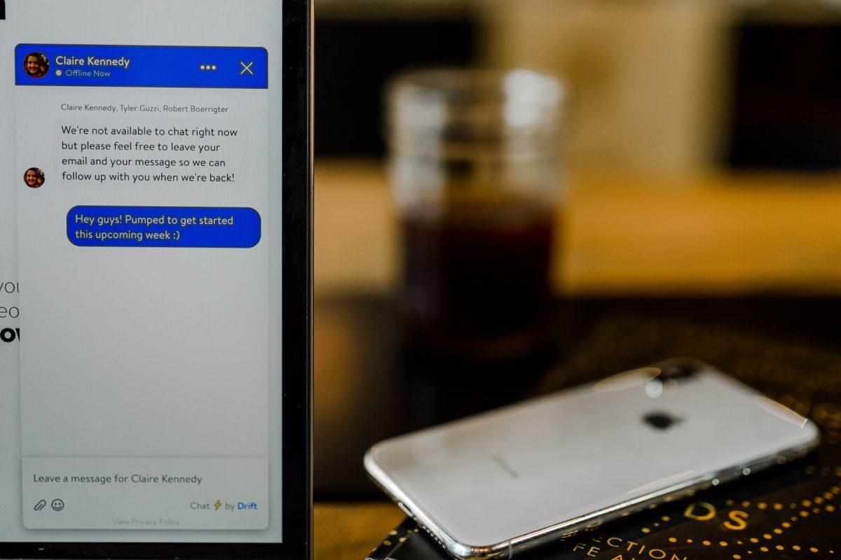 Chat na tela do celular