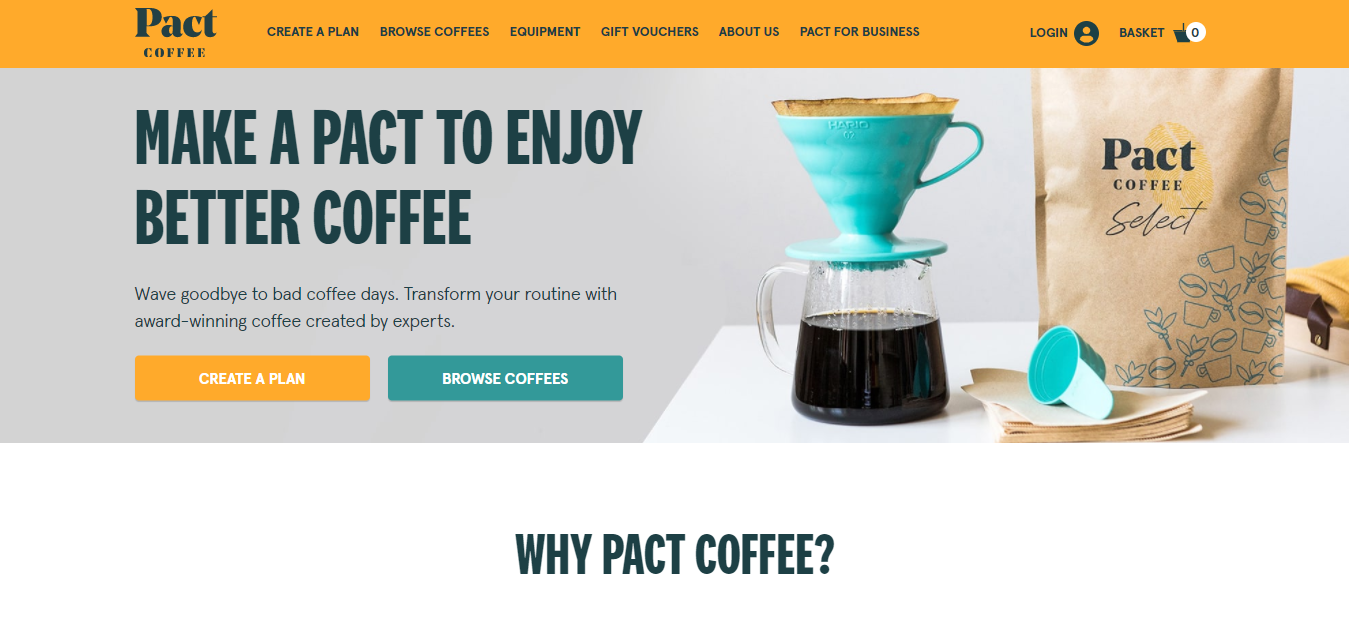 Exemplo de loja virtual Pact