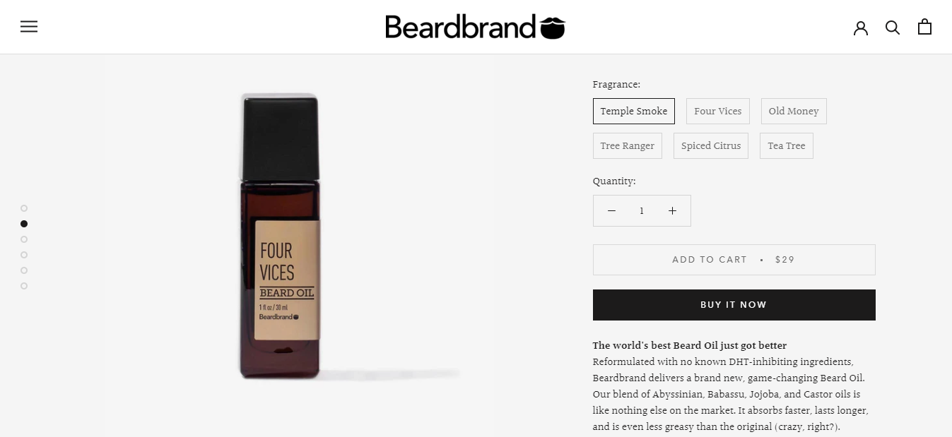 Exemplo da loja virtual Bearbrand