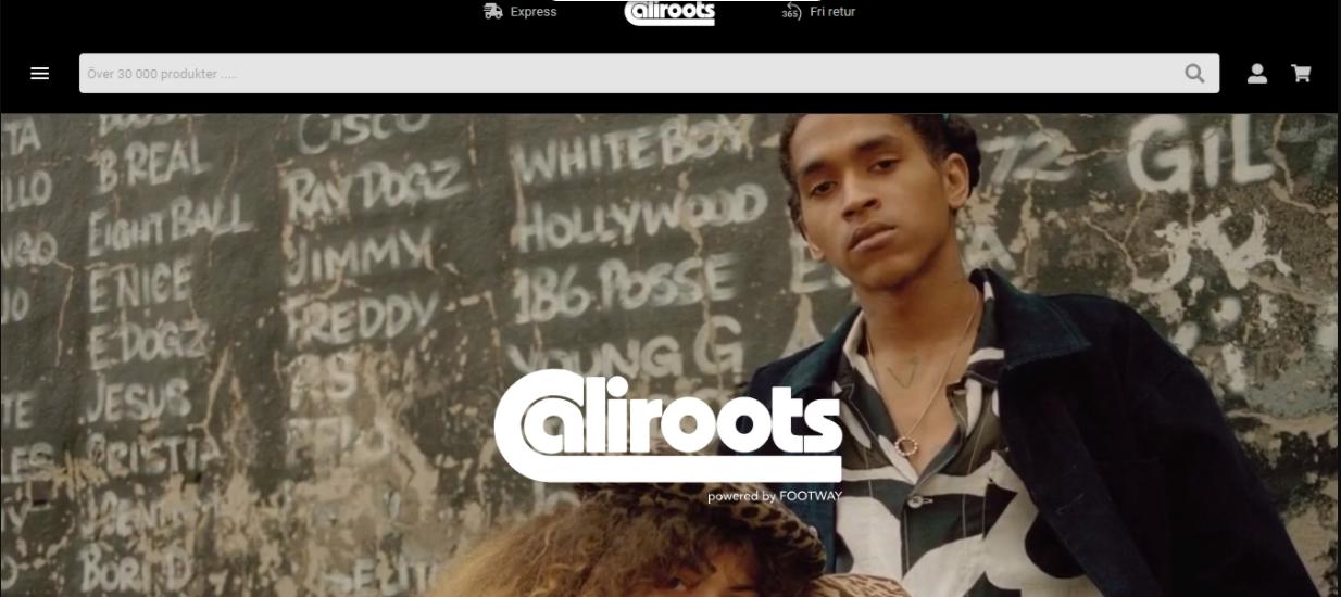 Exemplo da loja virtual Caliroots