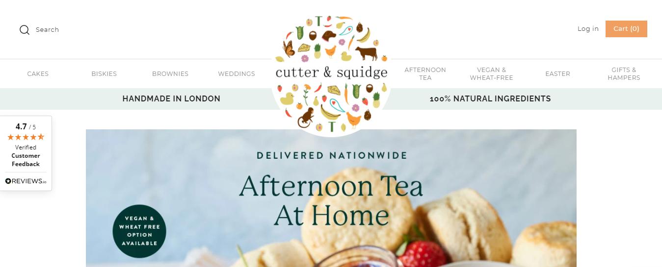 Exemplo da loja virtual Cutter And Squidge
