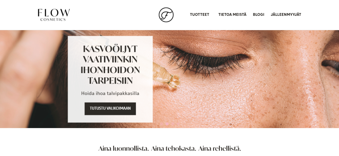 Exemplo da loja virtual Flow Cosmetics