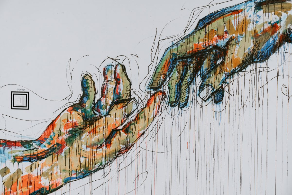 Grafitti com referência a Michelangelo