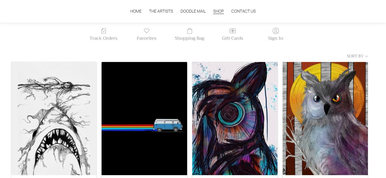 Website von Daily Doodle
