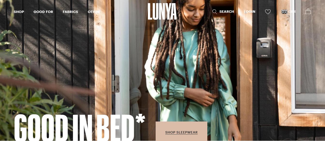 Landing page del sito Lunya