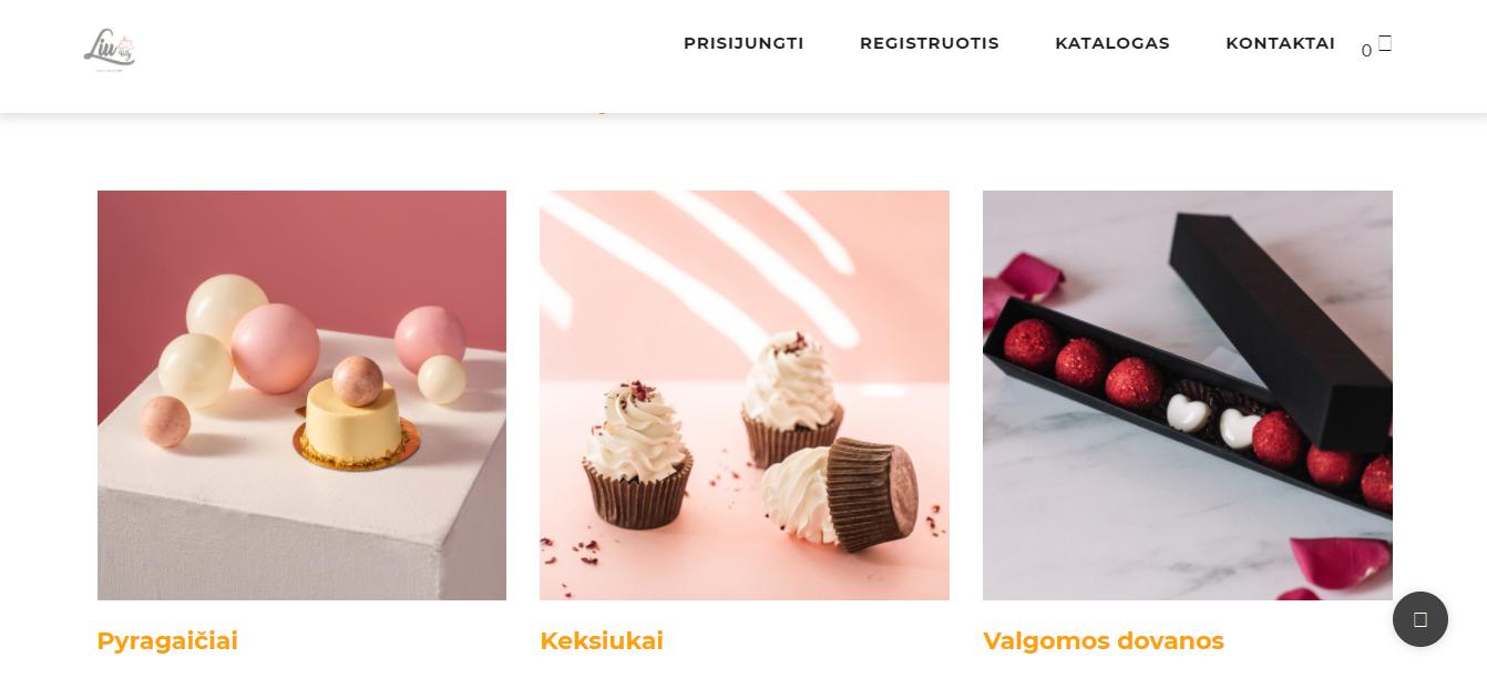 Pagina prodotti del sito Liu