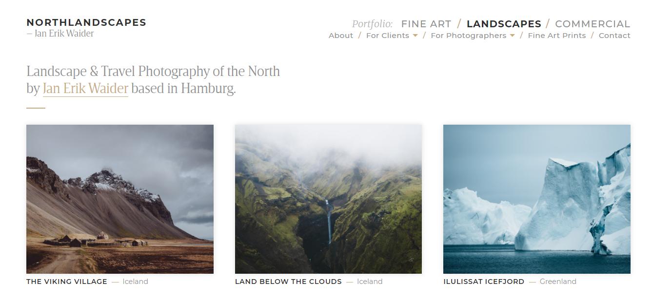 Portfólio de fotografia de Northlandscapes