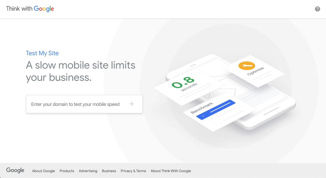 Test My Site, een tool om de snelheid van websites te testen