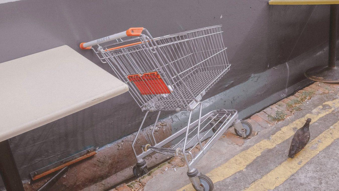 Verlaten winkelwagen