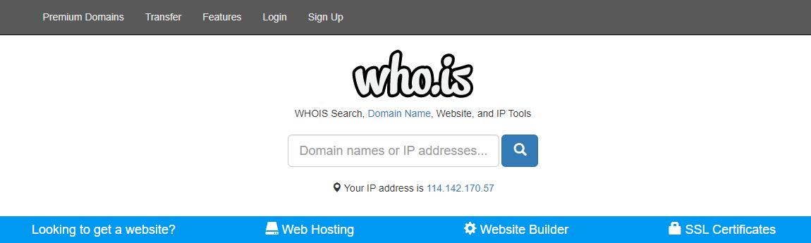Cek pemilik domain dengan WHOis