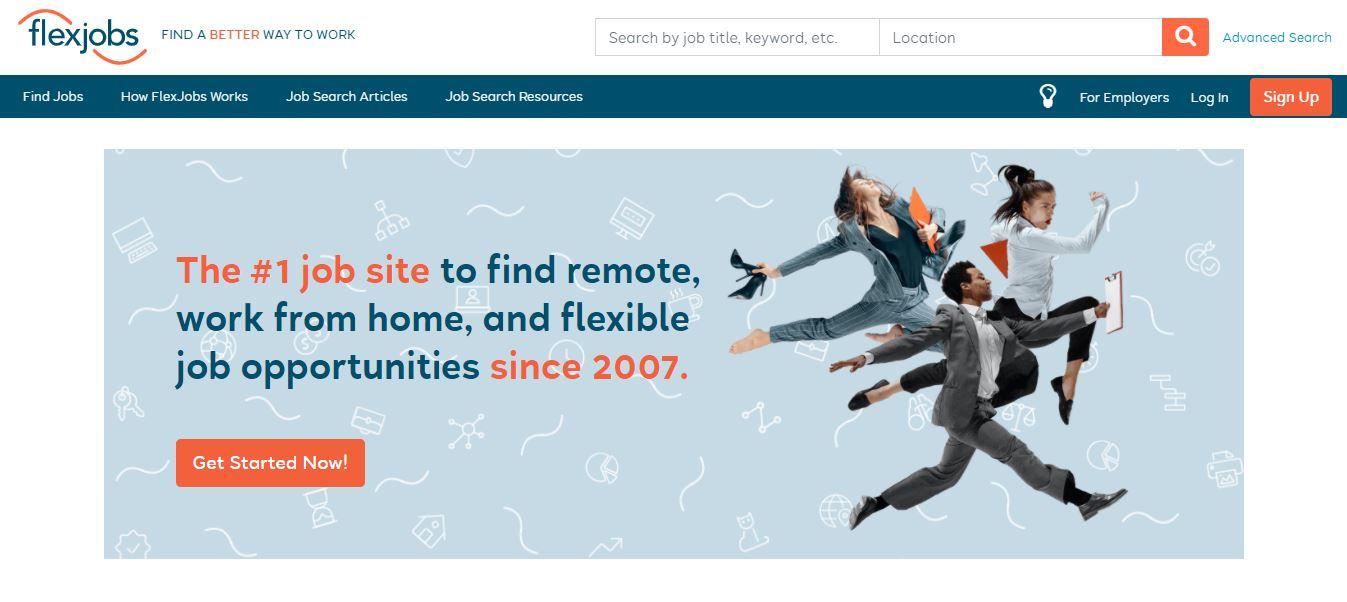 Homepage del sito web Flex Job